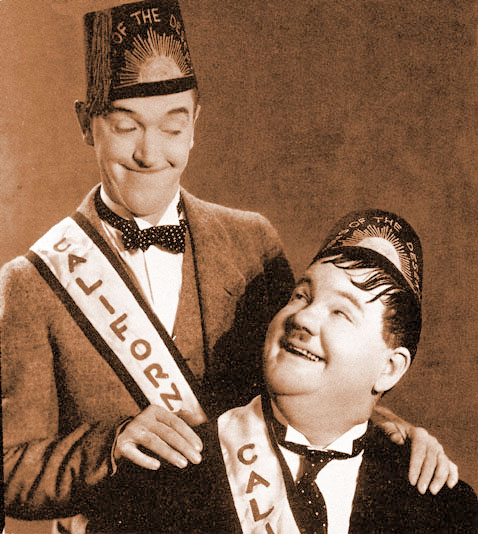"Laurel &           Hardy in ""Sons of the Desert"""